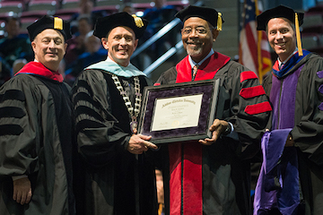 Childers presented with honorary doctorate